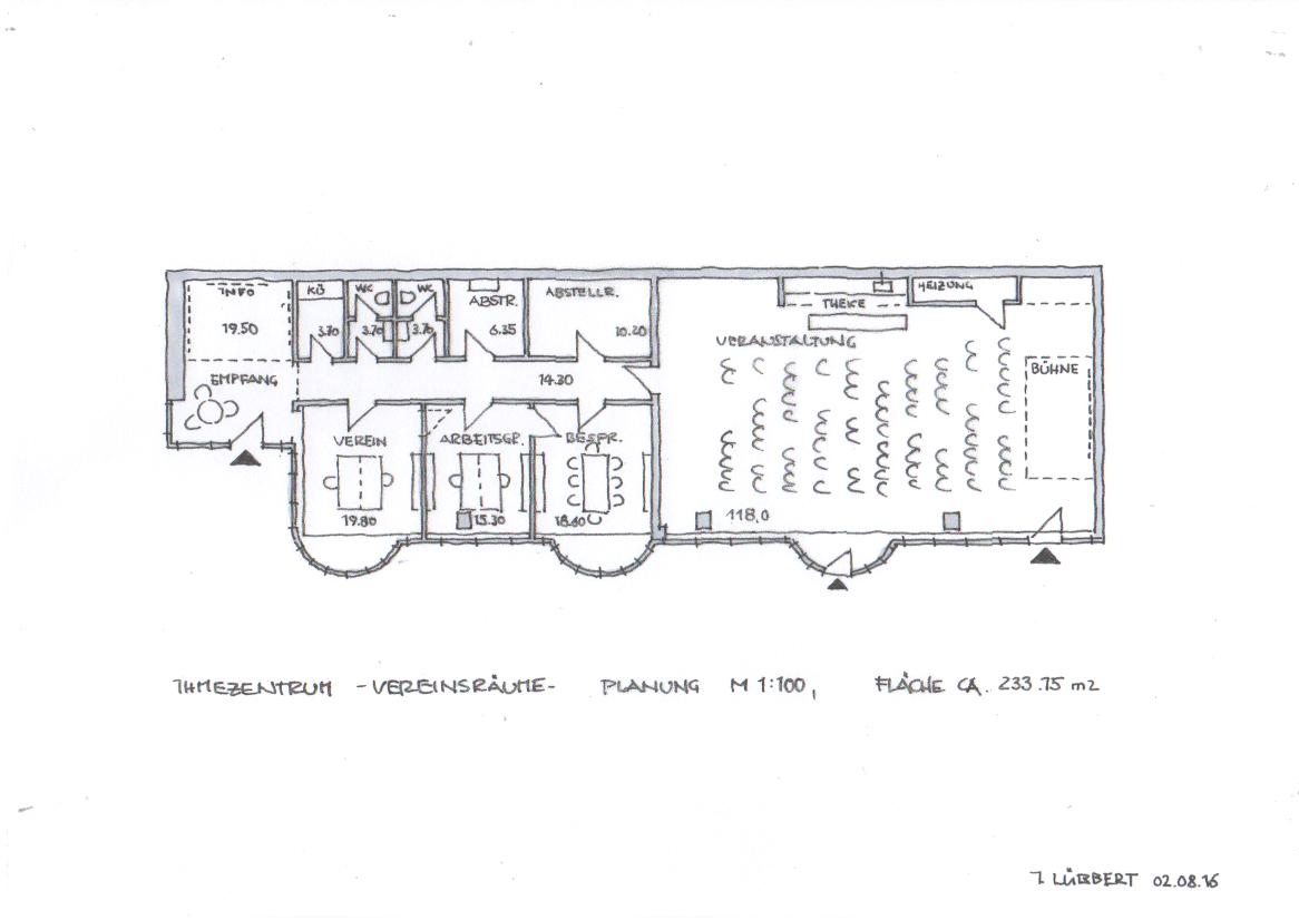 Vereinsräume-Grundriss